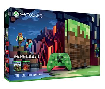 Xbox One S《Minecraft》特別版 1TB 主機套裝