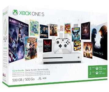 Xbox One S 500GB 連3個月金會員及3個月 Xbox Game Pass 主機套裝