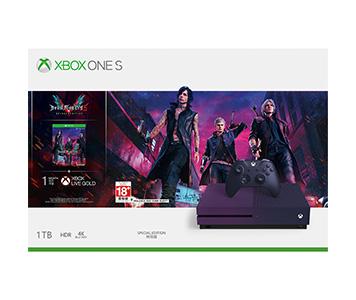 《Devil May Cry 5》Xbox One S 1TB 主機套裝 (型格紫特別版)