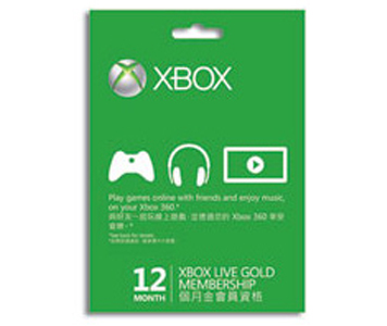 Xbox Live 12個月金會員訂閱卡 (電子下載版)