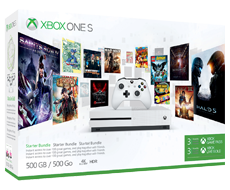 Xbox One S 500GB with 3-month Game Pass and 3-month Xbox Live Gold Bundle