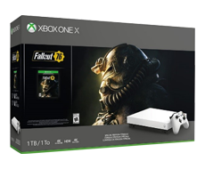 《Fallout 76》Xbox One X 1TB Console Bundle (Robot White Special Edition)