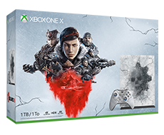 《Gears 5》Xbox One X 1TB 主機套裝 (骷髏限量版)